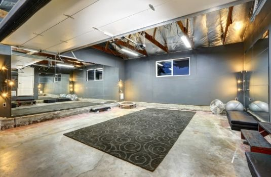 basement gym remodel